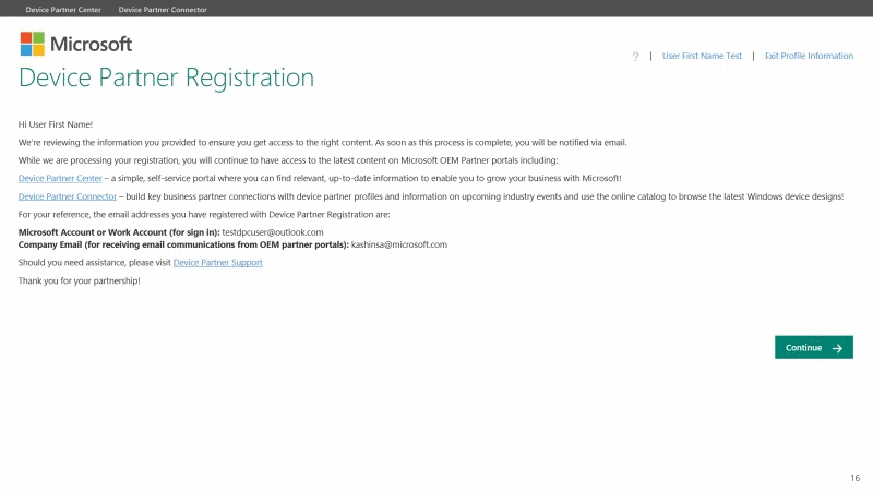 DPC Registration Confirmation